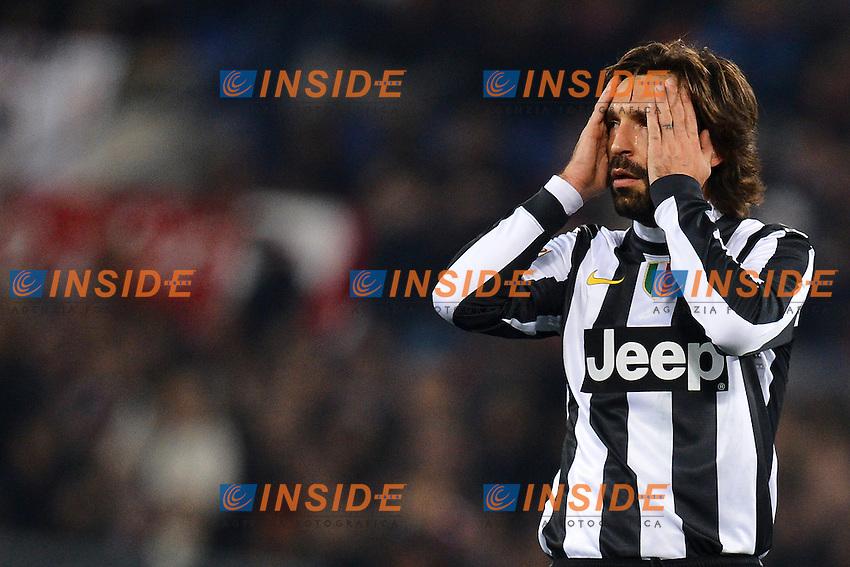 Andrea Pirlo Juventus .Roma 16/02/2013 Stadio Olimpico.Football Calcio 2012/2013 Serie A.Roma Vs Juventus.Foto Andrea Staccioli Insidefoto
