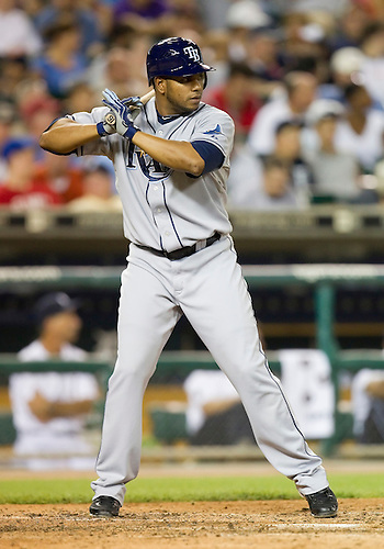 August 10, 2010: Tampa Bay Rays designated hitter Willy Aybar (#16) at bat during game action between the Tampa Bay Rays and the Detroit Tigers at Comerica Park in Detroit, Michigan.  The Rays defeated the Tigers 8-0.