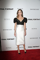 "LOS ANGELES - FEB 19:  Elizabeth Chambers at the ""Final Portrait"" Los Angeles Screening at the Pacific Design Center on February 19, 2018 in West Hollywood, CA"