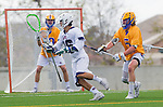 Los Angeles, CA 02-26-17 - Peter Brydon (UCSB #30), \l16\ and Jimmy Barlupo (UCSB #5) in action during the MCLA conference game between LMU and UC Santa Barbara.  Santa Barbara defeated LMU 15-0.