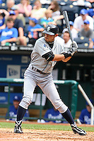 Seattle center fielder Ichiro Suzuki bats in the ninth inning against the Royals at Kauffman Stadium in Kansas City, Missouri on May 27, 2007.  The Mariners won 7-4.