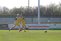 Alex Bentley of Hornchurch makes the most of a Witham denfensive mix up and slots the ball home for the fourth goal during Witham Town vs AFC Hornchurch, Bostik League Division 1 North Football at Spa Road on 14th April 2018