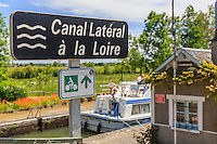 France, Cher (18), Berry, Couargues,  écluse de Lagrange sur le canal Latéral à la Loire // France, Cher, Berry region, Couargues, Lagrange lock on the canal Lateral a la Loire