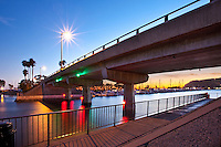 "Dana Point Harbor ""Mike"" Kirwan Bridge At Dusk"