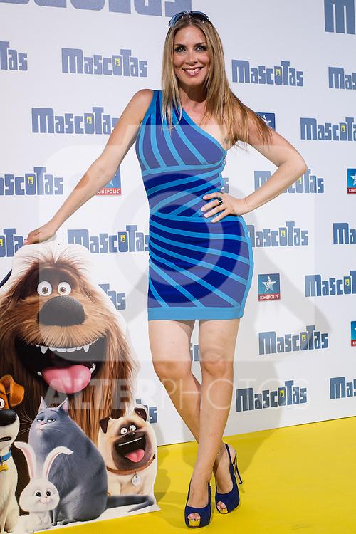 Roser during the premiere of  Mascotas at Kinepolis cinema in Madrid. July 21, 2016. (ALTERPHOTOS/Rodrigo Jimenez)