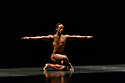 """London, UK. 26.09.2017. Acosta Danza, the new dance company founded by Cuban dancer, Carlos Acosta, receives its UK premiere at Sadler's Wells. The piece shown is: """"El cruce sobre el Niagara"""", choreographed by Marianela Boan. Picture shows: Carlos Luis Blanco. Photograph © Jane Hobson."""