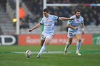 Jonny Sexton of Racing Metro 92 takes penalty kick during the Heineken Cup match between Harlequins and Racing Metro 92 at the Twickenham Stoop on Sunday 15th December 2013 (Photo by Rob Munro)