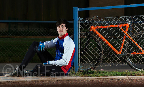 21 MAY 2015 - IPSWICH, GBR - Josh Brooke of Ipswich Cycle Speedway Club pictured at the club's track at Whitton Sports and Community Centre in Ipswich, Suffolk, Great Britain (PHOTO COPYRIGHT © 2015 NIGEL FARROW, ALL RIGHTS RESERVED)
