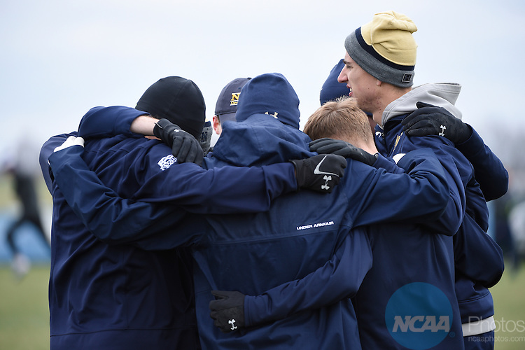 TERRE HAUTE, IN - NOVEMBER 19:  Runners prepare for the Division I Men's and Women's Cross Country Championship held at the Wabash Valley Family Sports Center on November 19, 2016 in Terre Haute, Indiana.  (Photo by Jamie Schwaberow/NCAA Photos via Getty Images)
