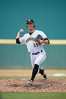 Bradenton Marauders relief pitcher Shea Murray (35) during a Florida State League game against the Tampa Tarpons on May 26, 2019 at LECOM Park in Bradenton, Florida.  Bradenton defeated Tampa 3-1.  (Mike Janes/Four Seam Images)