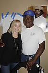 Barbara Crampton (GL, YR, BB) meets John Amos (OLTL) - Actors appear at 25th Anniversary of Chiller Theatre on October 25, 2015 at Sheraton Hotel, Parsippany, NJ. (Photo by Sue Coflin/Max Photos)
