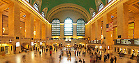 Panorama of Grand Central station terminal in Manhattan, New York city