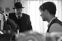 1945 (2017)<br /> Town clerk Istv&aacute;n Szentes (P&eacute;ter Rudolf) argues with his son &Aacute;rp&aacute;d (Bence Tasn&aacute;di) on his wedding day.<br /> *Filmstill - Editorial Use Only*<br /> CAP/FB<br /> Image supplied by Capital Pictures