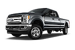 Stock pictures of low aggressive front three quarter view of 2017 Ford F-250 XLT-Crew 4 Door Pick-up Low Aggressive