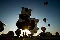 READINGTON, NJ - JULY 27: Participants take part during the QuickCheck New Jersey Festival of Ballooning on July 27, 2019 in Readington, NJ. More than 100 hot air balloons are taking part in the show where at least 165.000 are expected to attend.  (Photo by Eduardo MunozAlvarezVIEWpress)
