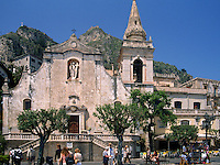 The church of San Giuseppe at the main square of Taormina, Sicily, Italy, Europe