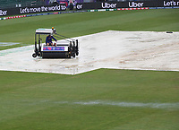 The outfield showing signs of puddles as the rain continues to fall during Pakistan vs Sri Lanka, ICC World Cup Cricket at the Bristol County Ground on 7th June 2019