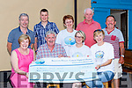 Brendan Ferris presents the proceeds of the Killorglin lawnmower run to Recovery Haven in Sheahans bar Killorglin on Friday night front row l-r: Maureen O'Brien, Brendan ferris, Siobhan McSweeney and Caroline Foley. Back row: Brendan Tyther, Anthony Doona, Patricia Tyther, Jim Clifford, Davie Fleming