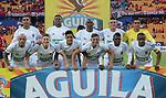 Atlético Nacional, Independiente Medellín, Deportes Tolima, Atlético Huila, Junior, Deportivo Cali, Patriotas y Once Caldas. Equipos clasificados a los play-offs de la Liga Águila I-2018.