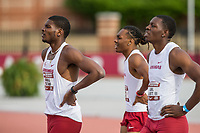 NWA Democrat-Gazette/BEN GOFF @NWABENGOFF<br /> Athletes compete Friday, April 12, 2019, at the John McDonnell Invitational at John McDonnell field in Fayetteville.