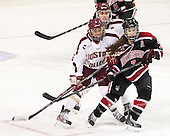 Meagan Mangene (BC - 24), Kaliya Johnson (BC - 6), Brittany Esposito (NU - 7) - The Boston College Eagles defeated the Northeastern University Huskies 3-0 on Tuesday, February 11, 2014, to win the 2014 Beanpot championship at Kelley Rink in Conte Forum in Chestnut Hill, Massachusetts.