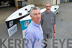 Brian O'Sullivan (Managing Director of O'Sullivan Marine) and Maurice O'Sullivan (Fitter) with two ICRF One-Design Rowing Yawls built by O'Sullivan Marine, Monavalley Industrial Estate, Tralee.