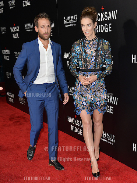LOS ANGELES, CA. October 24, 2016: Actor Ori Pfeffer &amp; wife actress Yael Goldman at the Los Angeles premiere of &quot;Hacksaw Ridge&quot; at The Academy's Samuel Goldwyn Theatre, Beverly Hills.<br /> Picture: Paul Smith/Featureflash/SilverHub 0208 004 5359/ 07711 972644 Editors@silverhubmedia.com