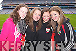 Niamh Crowley, Molly O'Brien, Caoimhe O'Connor and Caoimhe Quinlan Kenmare fans enjoying the atmosphere on Sunday for the Kenmare vs Ballinasloe final in Croke Park..