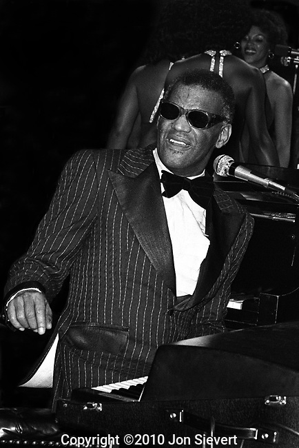 "Ray Charles, Oct 3, 1975, Great American Music Hall, SF. He pioneered the genre of soul music during the 1950s by fusing rhythm & blues, gospel, and blues styles into his early recordings for Atlantic Records.He also helped racially integrate country and pop music during the 1960s with his crossover success on ABC Records. In 2004, Rolling Stone ranked Charles number 10 on their list of ""The 100 Greatest Artists of All Time"", and voted him number two on their November 2008 list of ""The 100 Greatest Singers of All Time""."