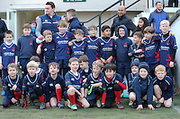 Match flag bearers ahead of the Greene King IPA Championship match between London Scottish Football Club and Jersey at Richmond Athletic Ground, Richmond, United Kingdom on 18 February 2017. Photo by David Horn / PRiME Media Images.