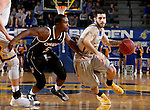 BROOKINGS, SD - JANUARY 7:  Michael Orris #50 from South Dakota State University tries to get a step past KJ Robinson #5 from the University of Nebraska Omaha during their game Saturday afternoon at Frost Arena in Brookings. (Dave Eggen/Inertia)