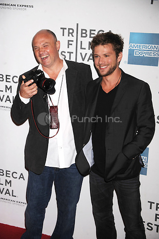 Ryan Phillippe and Greg Marinovich at the 2011 Tribeca Film Festival premiere of The Bang Bang Club at BMCC Tribeca PAC in New York City. April 21, 2011. Credit: Dennis Van Tine/MediaPunch
