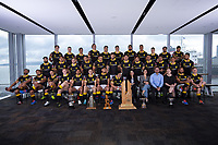 Wilson & Hurst sponsors. The 2019 Wellington Lions Mitre 10 Cup rugby team photo at Westpac Stadium in Wellington, New Zealand on Friday, 11 October 2019. Photo: Dave Lintott / lintottphoto.co.nz