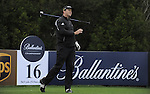 JEJU, SOUTH KOREA - APRIL 22:  Marcus Fraser of Australia tosses his club after tees off on the 16th hole during the Round One of the Ballantine's Championship at Pinx Golf Club on April 22, 2010 in Jeju island, South Korea.  Photo by Victor Fraile / The Power of Sport Images