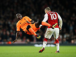 Arsenal's Jack Wilshere fouls Liverpool's Sadio Mane during the premier league match at the Emirates Stadium, London. Picture date 22nd December 2017. Picture credit should read: David Klein/Sportimage