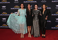 HOLLYWOOD, CA - OCTOBER 10: Chloe Bennet, Natalia Cordova-Buckley, Elizabeth Henstridge and Ming-Na Wen at the world premier of Marvel Studios&rsquo; Thor: Ragnarok  in Hollywood, California on October 10, 2017. <br /> CAP/MPIFS<br /> &copy;MPIFS/Capital Pictures