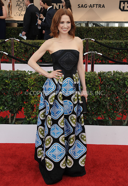 WWW.ACEPIXS.COM<br /> <br /> January 30 2016, LA<br /> <br /> Ellie Kemper arriving at the 22nd Annual Screen Actors Guild Awards at the Shrine Auditorium on January 30, 2016 in Los Angeles, California<br /> <br /> By Line: Peter West/ACE Pictures<br /> <br /> <br /> ACE Pictures, Inc.<br /> tel: 646 769 0430<br /> Email: info@acepixs.com<br /> www.acepixs.com