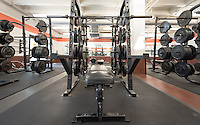 Varsity Weight Room, Athletics facility, Sept. 16, 2016.<br /> (Photo by Marc Campos, Occidental College Photographer)