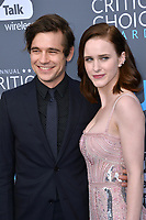 Rachel Brosnahan &amp; Jason Ralph at the 23rd Annual Critics' Choice Awards at Barker Hangar, Santa Monica, USA 11 Jan. 2018<br /> Picture: Paul Smith/Featureflash/SilverHub 0208 004 5359 sales@silverhubmedia.com