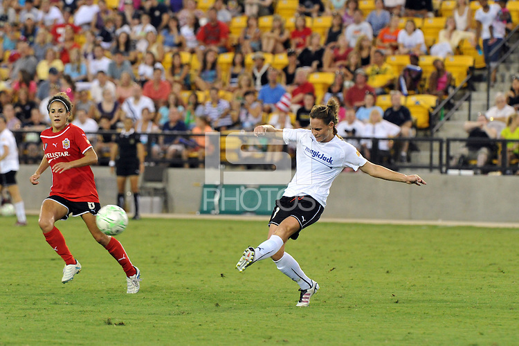 The Atlanta Beat and Magic Jack played to a 0-0 draw, Saturday, July 23, 2011 at Atlanta Beat - KSY Stadium, before a franchise record crowd of 9,345.