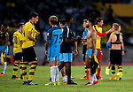 SHENZHEN - JULY 28: The Manchester City Squad reacting with the teammates of Borussia Dortmund after winning the match between Borussia Dortmund vs Manchester City FC at the 2016 International Champions Cup China match at the Shenzhen Stadium on 28 July 2016 in Shenzhen, China. (Photo by Power Sport Images/Getty Images)