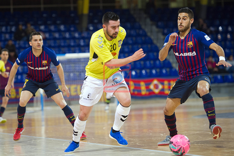 League LNFS 2018/2019 - Game 29.<br /> FC Barcelona Lassa vs Viña Albali Valdepeñas: 5-1.<br /> Chino vs Adolfo Fernandez.