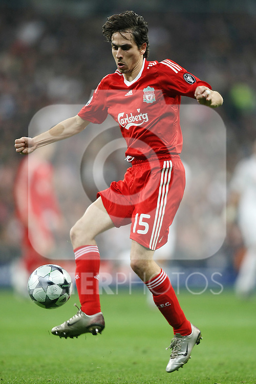 Liverpool's Yossi Benayoun during the UEFA Champions League match. February 25 2009. (ALTERPHOTOS/Acero).