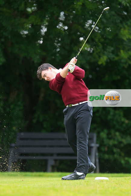 Ronan Cross (Ballybunion) on the 10th tee during the Final round of the Munster section of the AIG Pierce Purcell Shield at East Clare Golf Club on Sunday 19th July 2015.<br /> Picture:  Golffile | Thos Caffrey