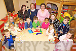 BANANAS IN PYJAMAS: The children at the Ti?r na n-O?g childcare centre in Ballybunion who held a pyjama party last Friday, with staff members l-r: Angela Hegarty, Priscilla O'Sullivan, Saoirse Weadick, Mai O'Connor, Liz O'Sullivan.