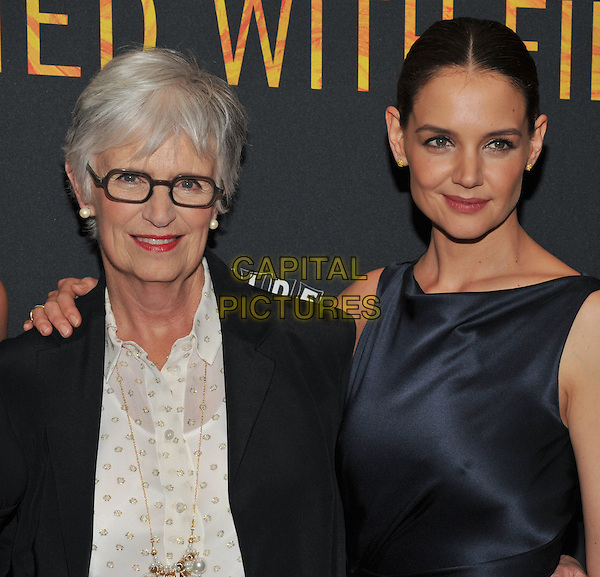 New York,NY-FEBRUARY 10: Kathleen Stothers-Holmes, Katie Holmes attend the 'Touched With Fire' New York premiere at Walter Reade Theater on February 10, 2016 in New York City. <br /> CAP/MPI/STV<br /> &copy;STV/MPI/Capital Pictures
