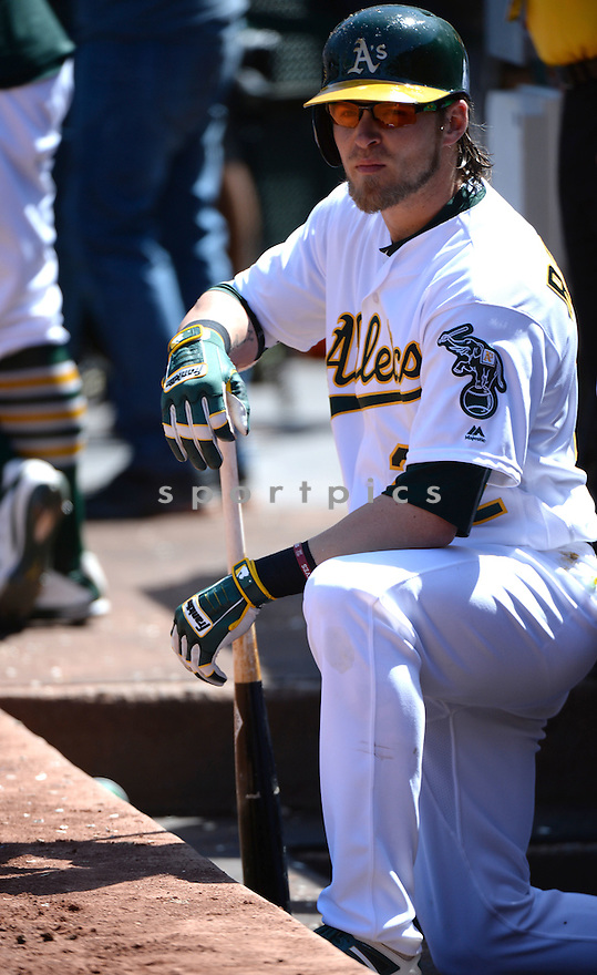 Oakland A's Josh Reddick (22) during a game against the Kansas CIty Royals on April 17, 2016 at Oakland Coliseum in Oakland, CA. The A's beat the Royals 3-2.