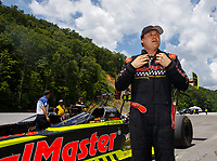 Jun 17, 2017; Bristol, TN, USA; NHRA top fuel driver Troy Coughlin Jr during qualifying for the Thunder Valley Nationals at Bristol Dragway. Mandatory Credit: Mark J. Rebilas-USA TODAY Sports