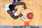 SAN ANTONIO, TX - MARCH 31: Eric Paschall #4 of the Villanova Wildcats dunks against the Kansas Jayhawks in the 2018 NCAA Men's Final Four semifinal game at the Alamodome on March 31, 2018 in San Antonio, Texas.  (Photo by Jamie Schwaberow/NCAA Photos via Getty Images)