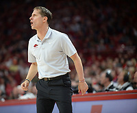 Arkansas coach Eric Musselman directs his team Wednesday, Jan. 15, 2020, during the second half against Vanderbilt in Bud Walton Arena. Check out nwaonline.com/photos for a gallery from the game. (NWA Democrat-Gazette/Andy Shupe)